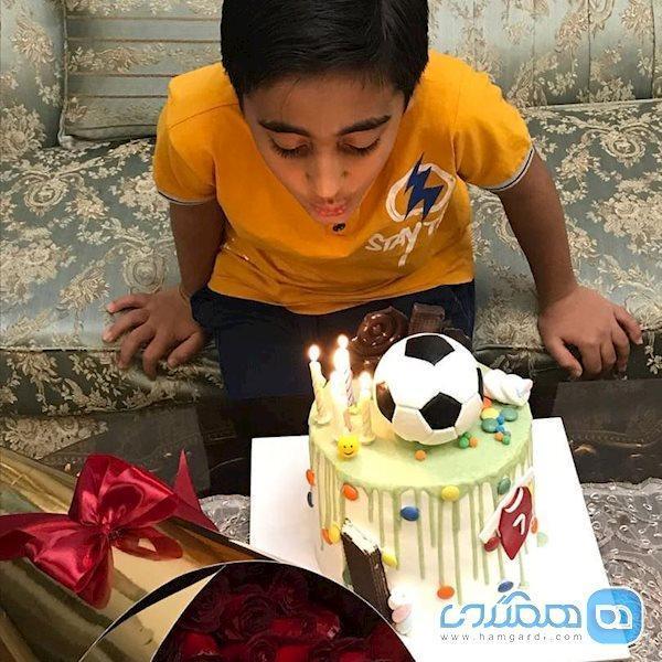جشن تولد پسر المیرا شریفی مقدم در شرایط قرنطینه