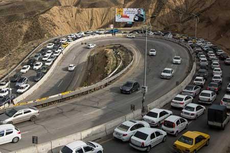 ترافیک در محور کندوان و آزادراه قزوین -تهران ، 6 جاده به دلیل نداشتن ایمنی مسدود است