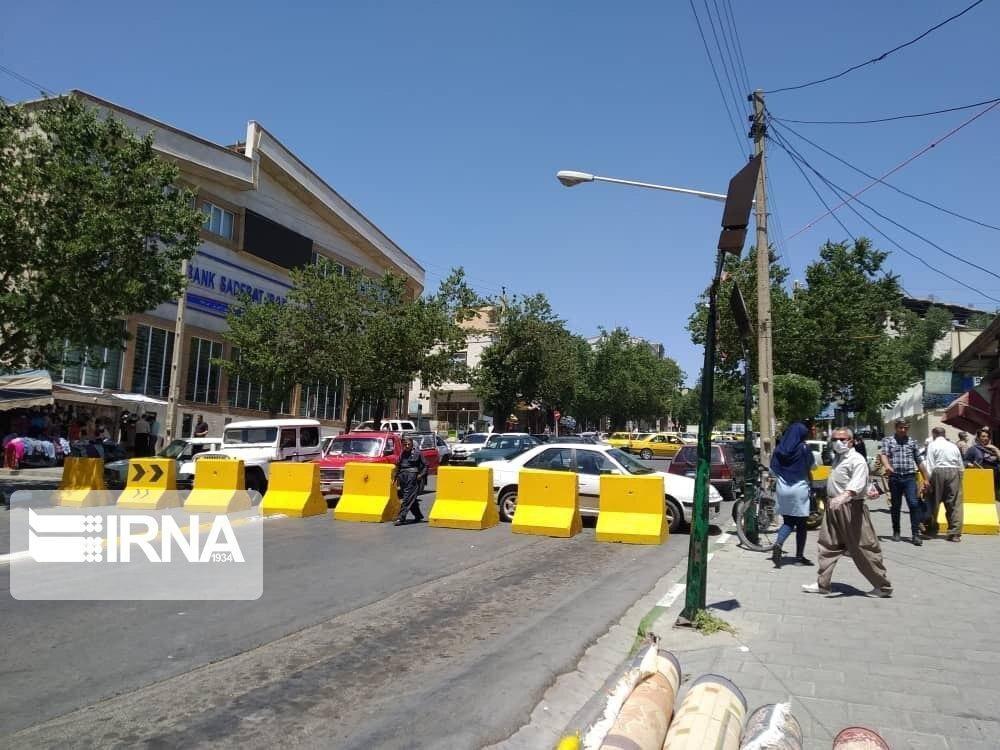خبرنگاران اعمال محدودیت های ترافیکی در شهر سقز اجرا شد