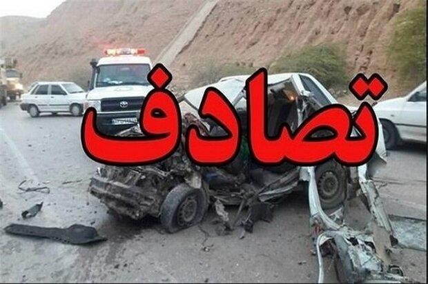 2کشته در تصادف خودروی سمند و پراید در تنکابن